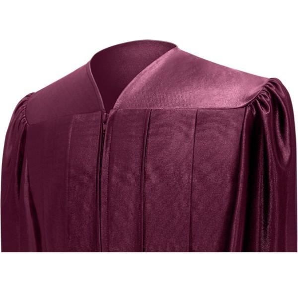 Shiny Maroon High School Graduation Gown - Graduation Cap and Gown