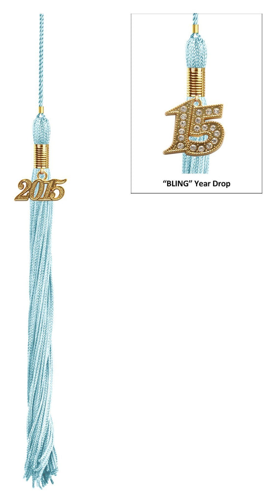 Shiny Light Blue High School Cap & Tassel - Graduation Caps - Graduation Cap and Gown