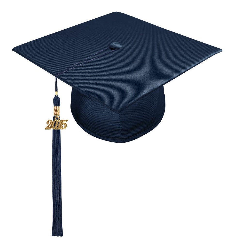 Shiny Navy Blue High School Cap & Tassel - Graduation Caps - Graduation Cap and Gown