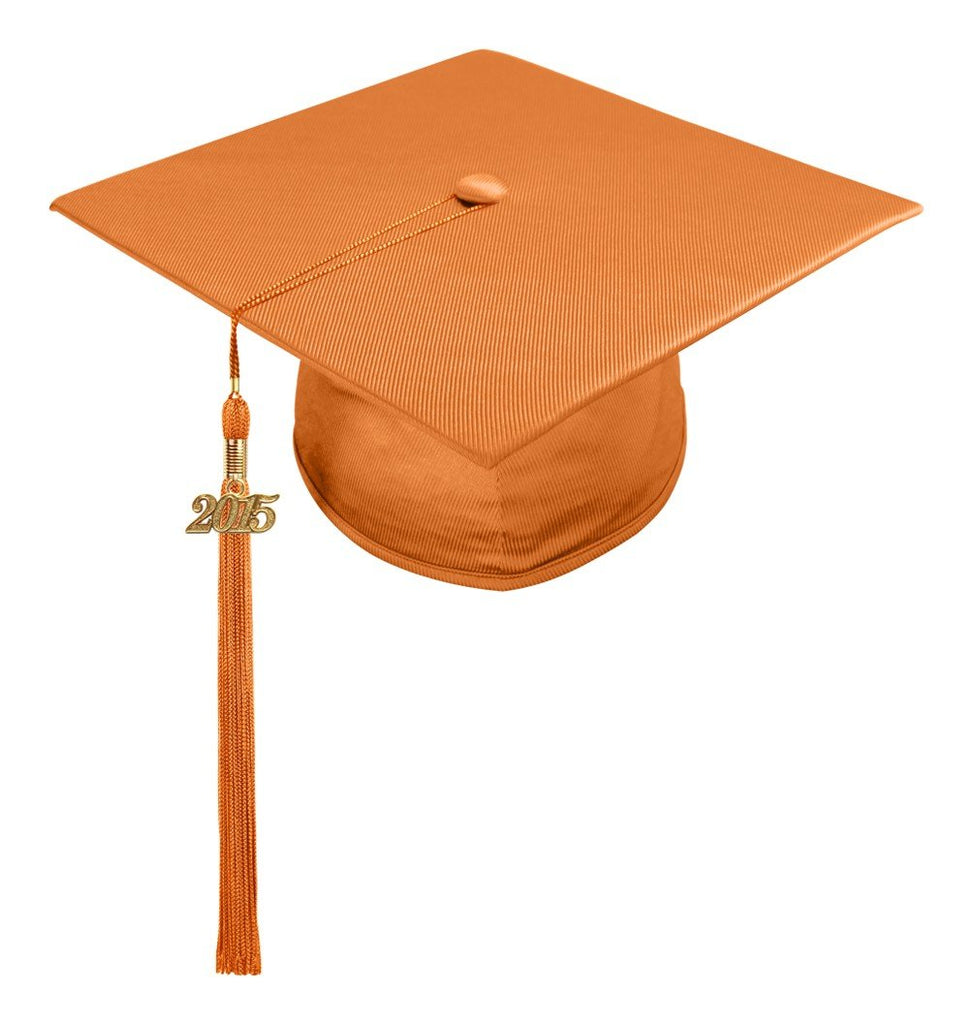 Shiny Orange High School Cap & Tassel - Graduation Caps - Graduation Cap and Gown