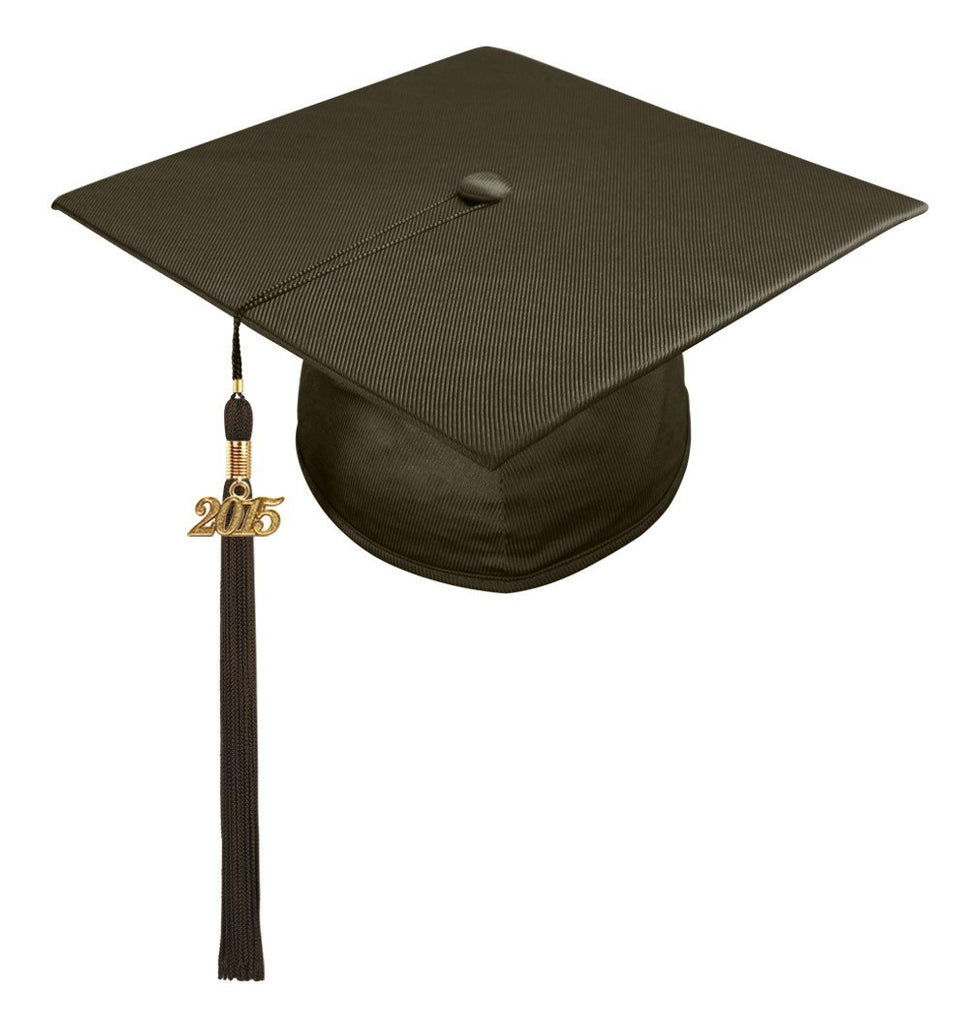 Shiny Brown High School Cap & Tassel - Graduation Caps - Graduation Cap and Gown