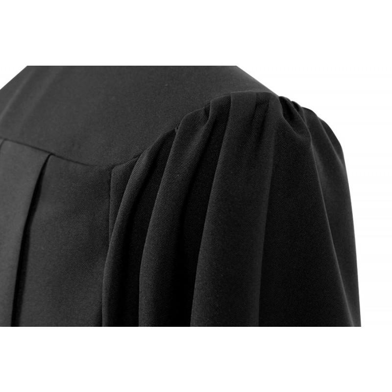 Matte Black Associates Graduation Cap & Gown - College & University