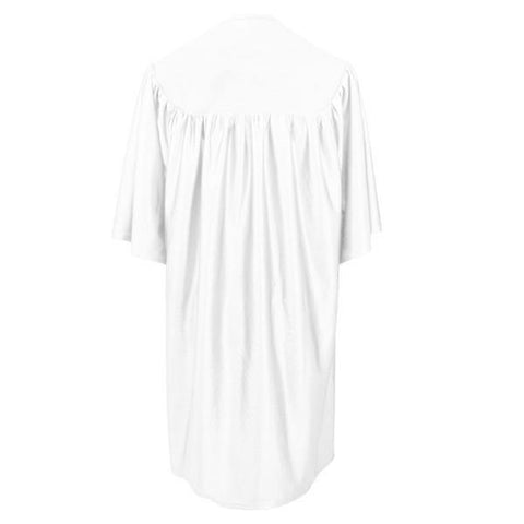 Child White Graduation Gown - Preschool & Kindergarten Gowns - Graduation Cap and Gown