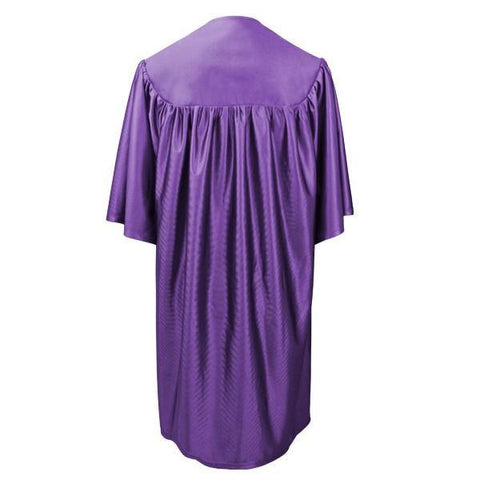 Child Purple Graduation Gown - Preschool & Kindergarten Gowns - Graduation Cap and Gown