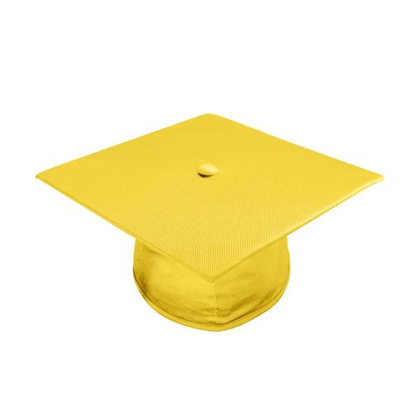 Shiny Gold High School Graduation Cap and Gown - Graduation Cap and Gown