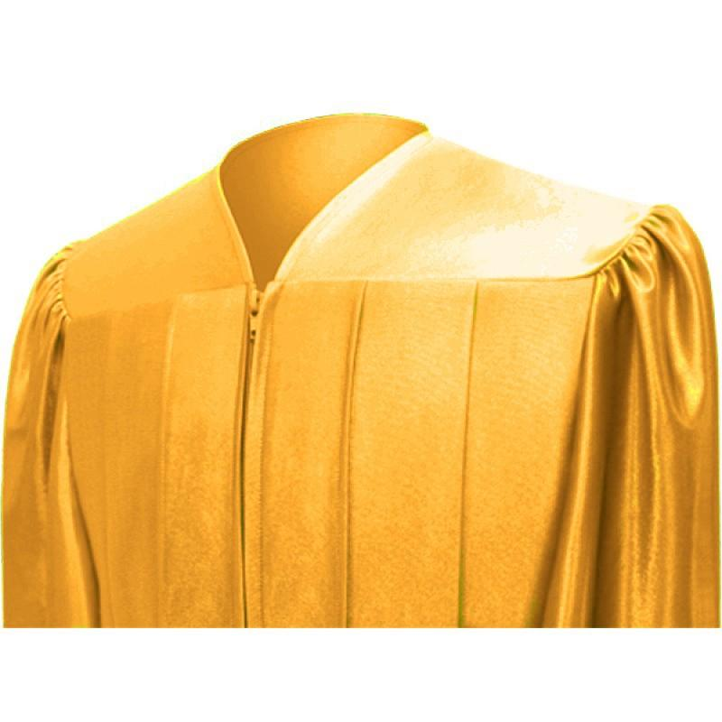Shiny Antique Gold High School Graduation Cap & Gown - Graduation Cap and Gown