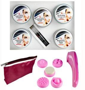 Platinum Facial Kit (250+10)g with 5 in 1 Face Massager Free  (Set of 3)+Make up Pouch - Worldshopon.com