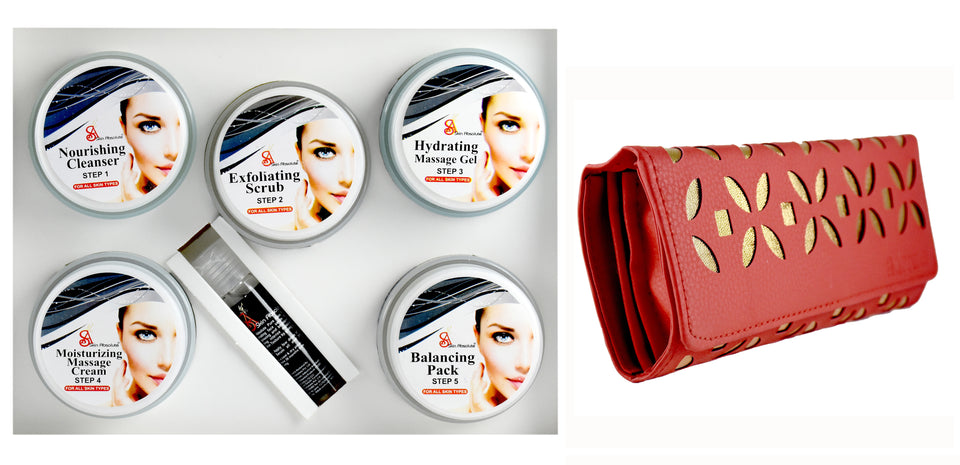 Skin Absolute 6 in 1 Platinum Facial Kit with free Party Clutch - Worldshopon.com