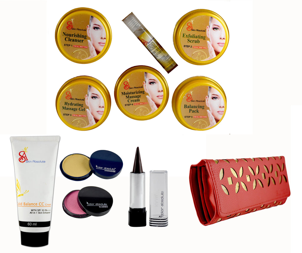 Skin Absolute Herbal Gold Facial Kit, 4 pcs Makeup Kit