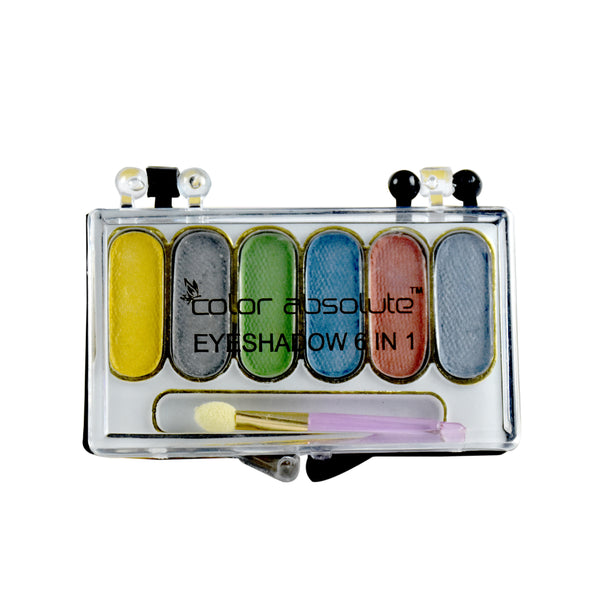 Color Absolute 6 in 1 Eye Shadow Pallet - worldshopon-com