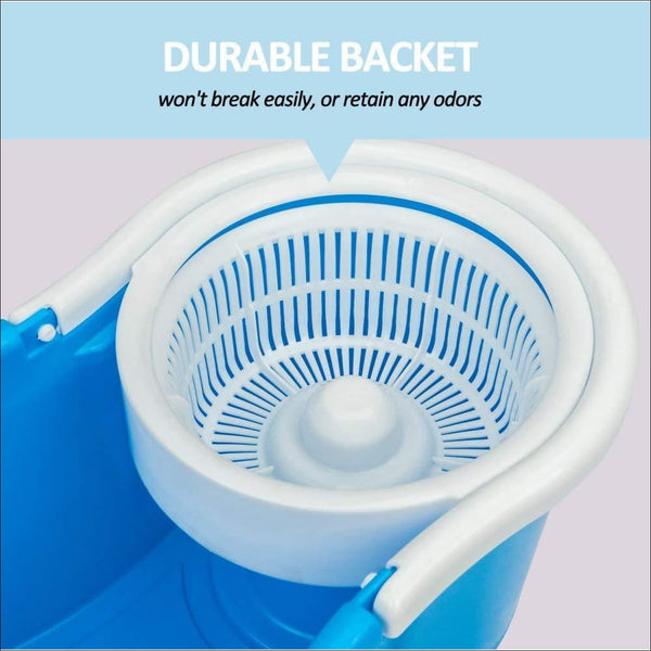 360 Degree Spin Bucket Mop with 2 Refills (Assorted Colour)) - worldshopon-com
