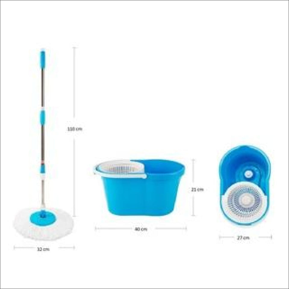 Ideal Home 360 Degree Spin Bucket Mop with 2 Refills - Worldshopon.com