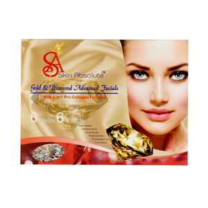 Skin Absolute Gold & Diamond Facial Kit - Worldshopon.com