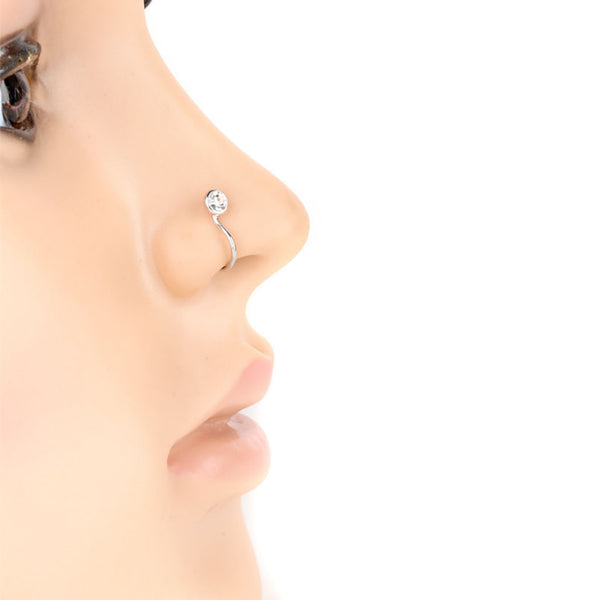 Fashion No-piercing Ear Lip Hoop Ring Women Chic Fake Nose Clip Jewelry - Worldshopon.com