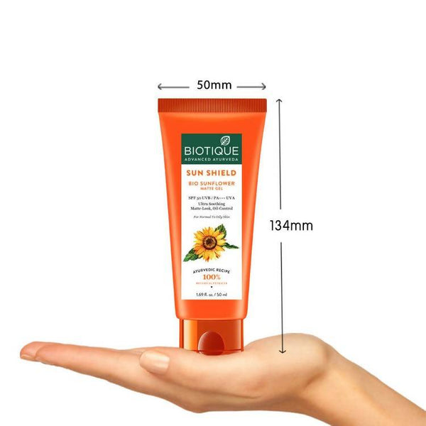 Biotique Bio Sunflower Matte Gel Sunscreen Spf 50 (50 ml)