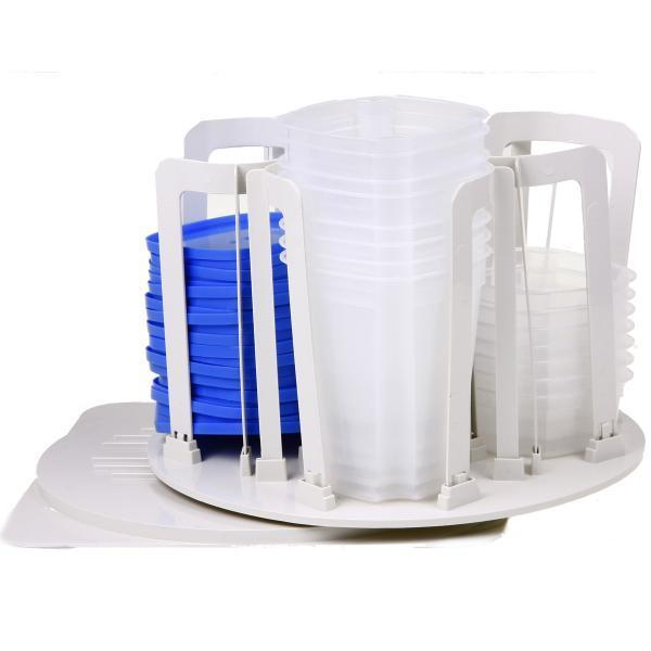 49 pieces Spin & Store Storage Containers with Carousel Rack - Air Tight Food Storage Containers - worldshopon-com