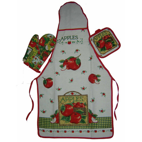 3PCS SET OF APRON,GLOVE & MAT (Assorted) - worldshopon-com