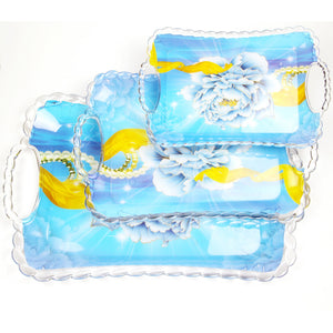 3 PCS PLASTIC DESIGNER TRAYS SET - worldshopon-com
