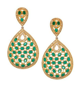 AZRA EMERALD GREEN (EARRING 2N) - Worldshopon.com