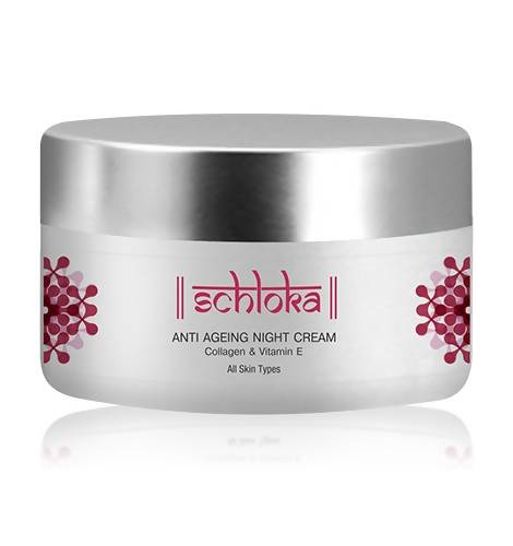 Schloka Anti Ageing Night Cream With Collagen and Vitamin E (50 Ml) - Worldshopon.com
