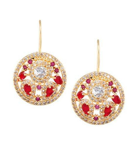 NAAZ RUBY RED (EARRING 2N) - Worldshopon.com