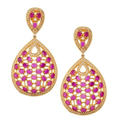 AZRA RUBY RED (EARRING 2N) - Worldshopon.com