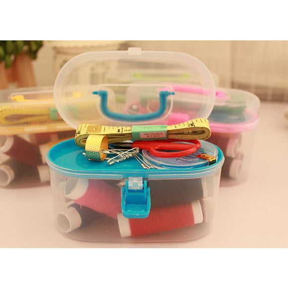 Ideal Home Portable mini travel sewing box with needle,colored threads & sewing accessories - Worldshopon.com