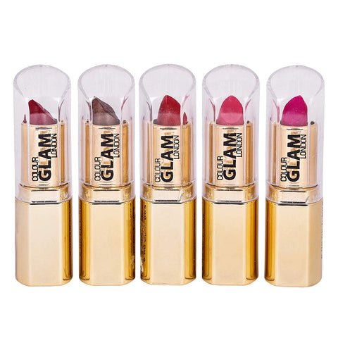 Set of 5 Color Glam Ultra Rich Lipsticks - Worldshopon.com