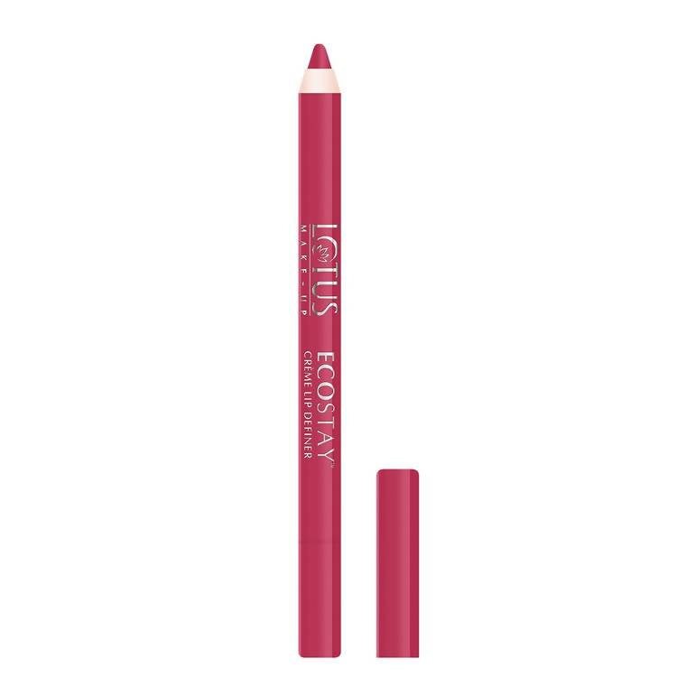 Lotus Makeup Ecostay Creme Lip Definer Pink Love LD-3 (1.2 g) - Worldshopon.com