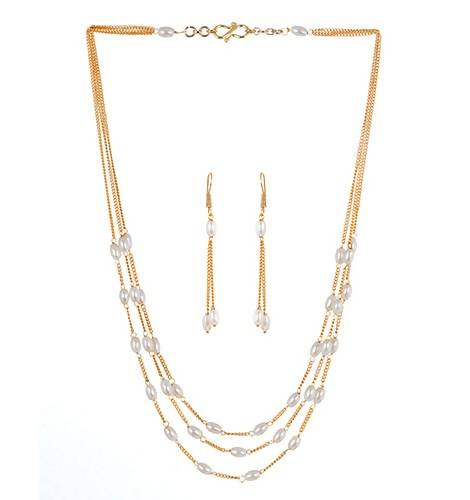 MOTI MALA (NECKLACE 1N + EARRING 2N) - Worldshopon.com