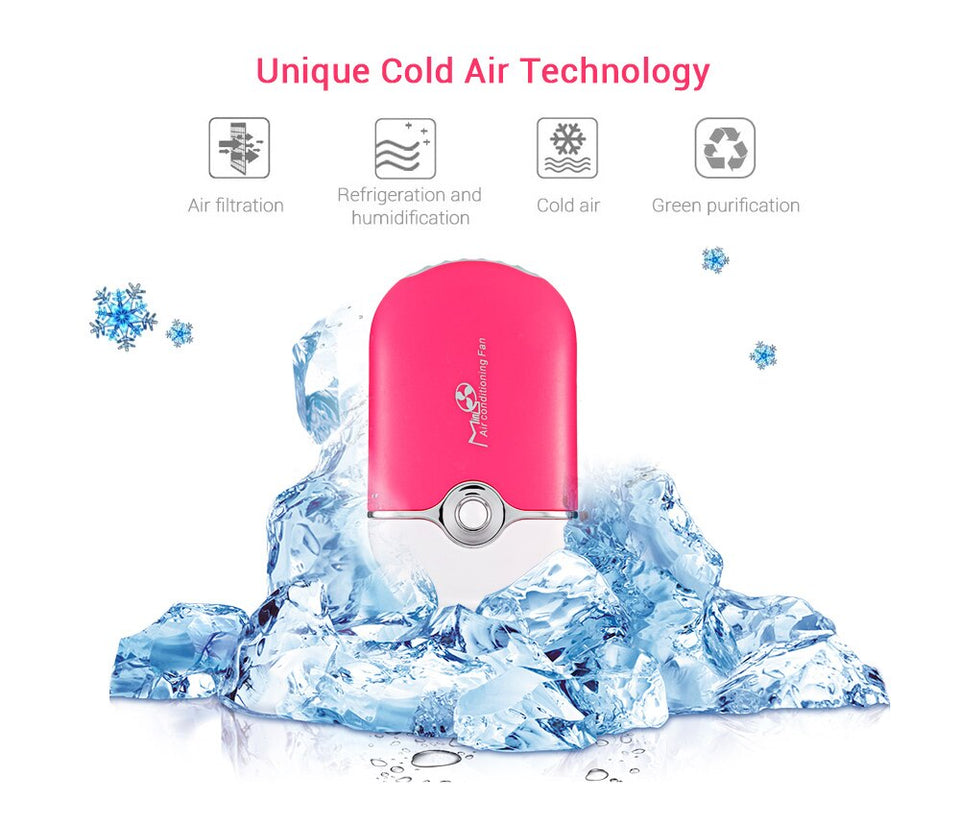 Mini Air Conditioning Fan for Nail Polish Mascara Rechargeable Battery
