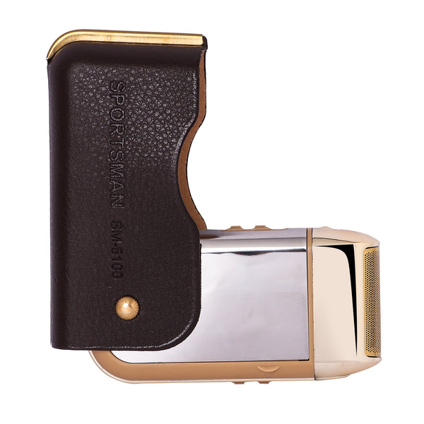 Men's Rechargeable Shaver W/LEATHER COVER - worldshopon-com