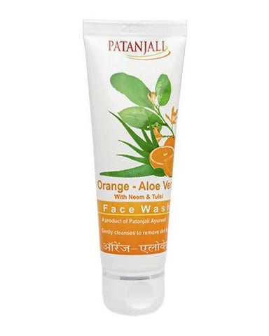 PATANJALI Orange Aloevera Face Wash - Worldshopon.com