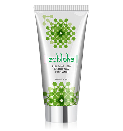 SCHLOKA PURIFYING NEEM & GOTUKOLA FACE WASH (60 ML)