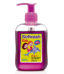 SOFWASH KIDS 3 IN 1 HANDWASH, SHOWERGEL & BUBBLE BATH (NEW MRP)