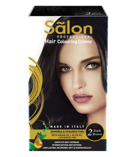 SALON PROFESSIONAL HAIR COLOR-DARK BROWN (2)