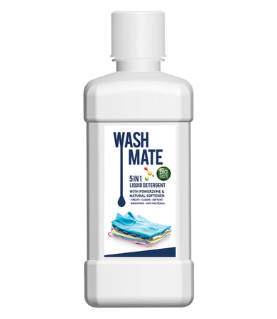 WASHMATE 5 IN 1 LIQUID DETERGENT WITH POWERZYME & NATURAL SOFTENER (BIOSAFE FORMULA)