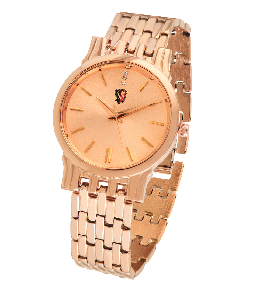 SM LADIES DESIGNER ROSE GOLD WATCH