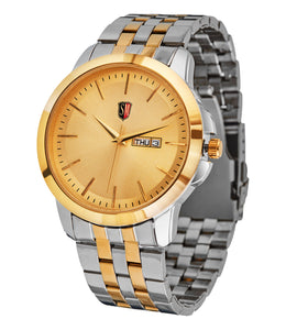 SM MEN'S DESIGNER (DAY & DATE) TWO TONE GOLD WATCH