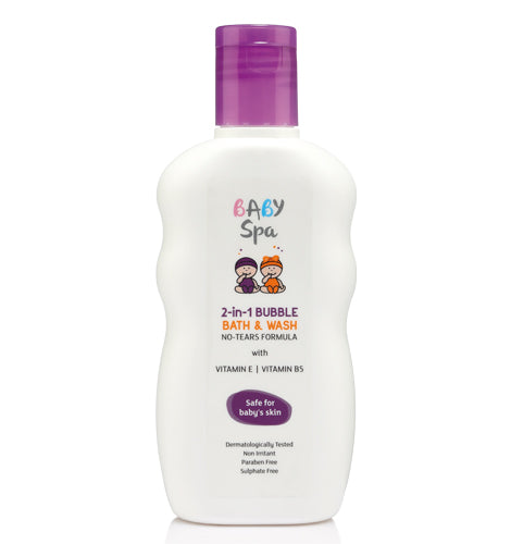 BABY SPA 2 IN 1 BUBBLE BATH & WASH (200 ML)