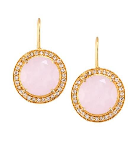 SHABNAM ROSE QUARTZ (EARRING 2N) - Worldshopon.com