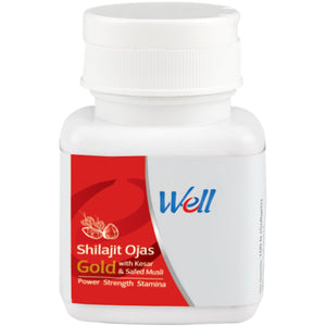 WELL SHILAJIT OJAS GOLD WITH KESAR & SAFED MUSLI (30 CAPSULES) - Worldshopon.com