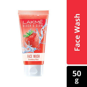 Lakme Blush & Glow Strawberry Gel Face Wash (50 g)