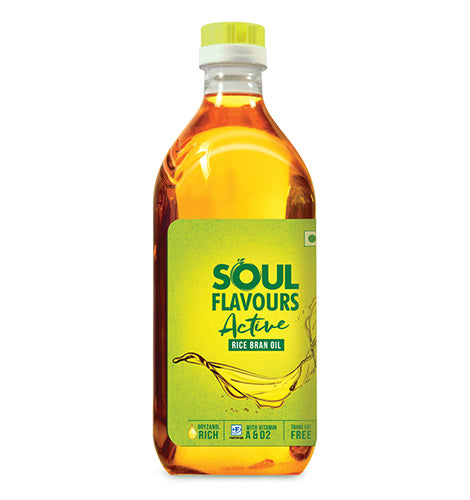 SOUL FLAVOURS ACTIVE RICE BRAN OIL BOTTLE (1L)