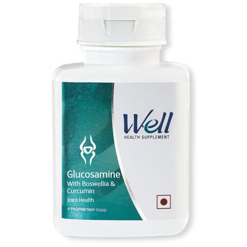 WELL GLUCOSAMINE WITH BOSWELLIA & CURCUMIN (120 TABLETS) - Worldshopon.com