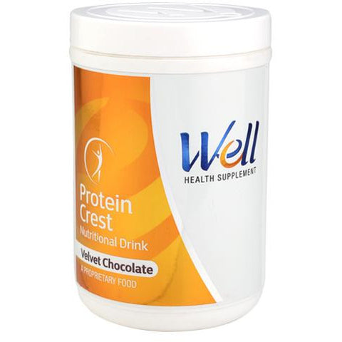 WELL PROTEIN CREST (VELVET CHOCOLATE) (500 G)` - Worldshopon.com