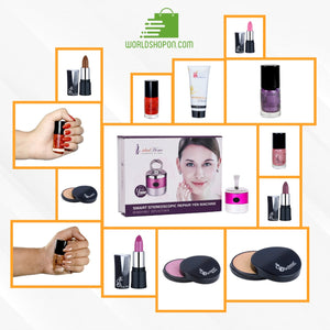 IDEAL HOME AUTOMATIC MAKE UP APPLICATOR with Skin Absolute CC Cream + 4 Long Stay Lipsticks + 4 Nail Paints + Blusher + Eye Shadow