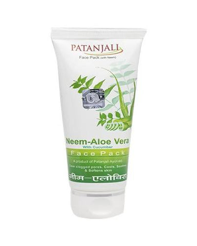 PATANJALI Neem Aloevera With Cucumber Face Pack - Worldshopon.com