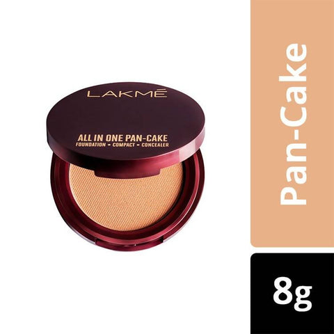 Lakme All In One Pan-Cake, Natural Marble, (8 g)