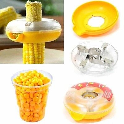 Corn Kerneler  - New Ultimate One Step Corn Cutter by Ideal Home collezione di lusso - worldshopon-com